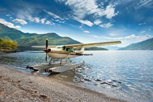 Bilder Italien See Flugzeuge Küste Wasserflugzeug Lake Como