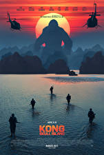 Wallpapers Kong: Skull Island Soldier Monkey Water Landing operation
