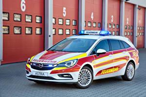 Hintergrundbilder Opel Tuning Weiß 2016 Astra Sports Tourer Feuerwehr Autos