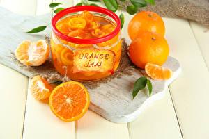 Image Fruit preserves Orange fruit Cutting board Jar Food