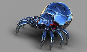 Hintergrundbilder Webspinnen Roboter Metallisch Fantasy