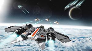 Bureaubladachtergronden Star Citizen Interstellair ruimteschip Computerspellen Ruimte Fantasy