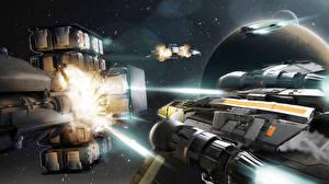 Bureaubladachtergronden Star Citizen Interstellair ruimteschip Schieten videogames Ruimte Fantasy