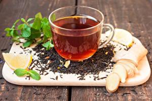 Bilder Tee Bretter Schneidebrett Tasse Blattwerk Lebensmittel