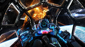 Pictures Technics Fantasy Explosions Cockpit Fantasy Space
