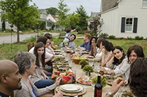 Picture The Walking Dead TV People Holidays Table film Celebrities