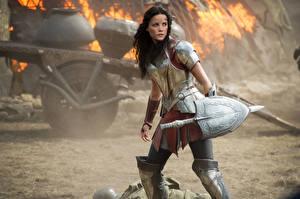 Desktop wallpapers Thor: The Dark World Jaimie Alexander Armour Shield Movies Girls Celebrities