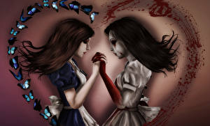 Wallpaper Alice 2 Hair Blood Madness Returns Games Girls