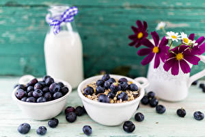 Hintergrundbilder Heidelbeeren Milch Schmuckkörbchen Frühstück Flasche