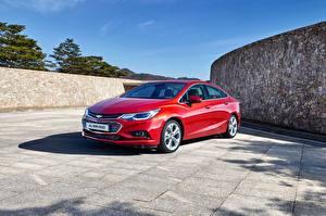 Bilder Chevrolet Rot Metallisch 2017 Cruze KR-spec Autos