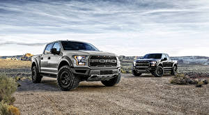 Pictures Ford Pickup Two F-150 Raptor automobile