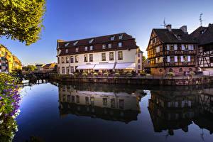 Fotos Frankreich Gebäude Straßburg Kanal