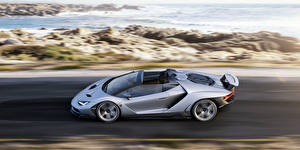 Fotos Lamborghini Seitlich Bewegung Roadster Centenario