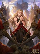 Bilder Legend of the Cryptids Krieger Krone Blond Mädchen Spiele Mädchens Fantasy