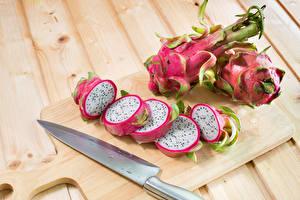 Wallpaper Dragon fruit Fruit Knife Boards Cutting board Sliced food