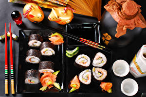 Pictures Seafoods Sushi Fish - Food Chopsticks Food