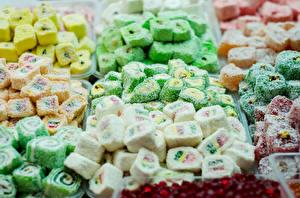 Bilder Süßigkeiten Viel Marmelade Turkish candy Lebensmittel