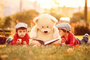 Wallpaper Teddy bear Boys 2 Book child
