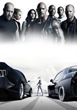Wallpapers Vin Diesel Michelle Rodriguez Dwayne Johnson Men Jason Statham Fast & Furious 8 Movies Celebrities