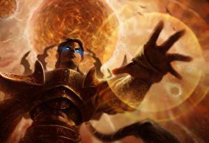 Bilder Diablo 3 Magie Magier Hexer Hand Reaper of Souls Spiele Fantasy