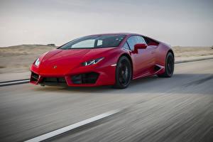 Bilder Lamborghini Rot Bewegung LP 580-2 Huracan