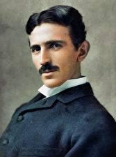 Pictures Man Painting Art Beautiful Nikola Tesla Celebrities