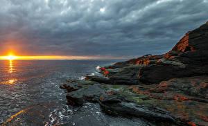 Hintergrundbilder Norwegen Sonnenaufgänge und Sonnenuntergänge Küste Himmel Steine Sonne Rogaland Natur