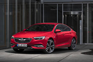 Bilder Opel Rot Metallisch  automobil