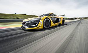 Papel de Parede Desktop Renault Velocidade Amarelo 2014 RS 01 automóveis