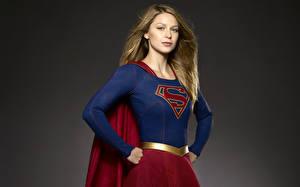 Fonds d'écran Supergirl Héros Melissa Benoist 2015 TV Series Cinéma Filles