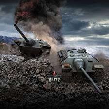 Wallpapers World of Tanks Self-propelled gun German Blitz, E-25 Games
