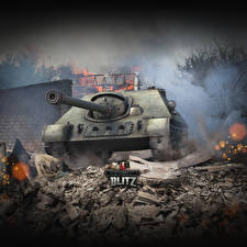 Picture World of Tanks Self-propelled gun Russian Blitz, SU-122-44 Games