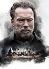 Bureaubladachtergronden Arnold Schwarzenegger Een man Baard Gelaat Kijkt Aftermath (2017) film