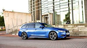 Wallpaper BMW Blue Side Estate car F31 2015 Touring Sport Cars