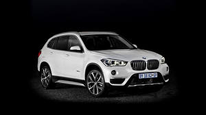 Wallpapers BMW White Black background Crossover xDrive F48 automobile