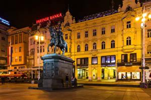Bilder Zagreb Kroatien Gebäude Denkmal Straßenlaterne Städte