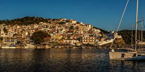 Bilder Griechenland Gebäude Bootssteg Meer Küste Skopelos Städte