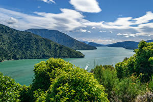 Images New Zealand Landscape photography Mountain River Bush Clouds Cullen Point Lookout Havelock Nature