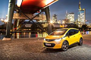 Hintergrundbilder Opel Gelb Metallisch 2016 Ampera-e automobil