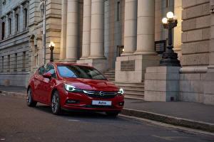 Hintergrundbilder Opel Bordeauxrot Metallisch 2016 Astra Autos