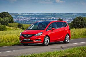 Bilder Opel Rot Metallisch 2016 Zafira Turbo auto