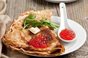 Hintergrundbilder Eierkuchen Meeresfrüchte Caviar Löffel Teller Lebensmittel