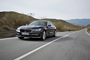 Photo Roads BMW Black Motion 2015, 750Li, G12, xDrive Cars