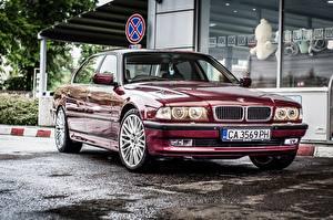 Pictures BMW Maroon Metallic 750li E38 automobile