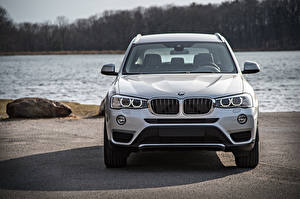 Images BMW Front White Crossover F25 Cars