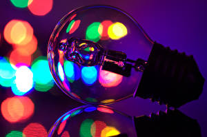 Photo Closeup Light bulb