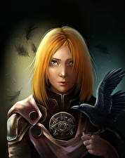 Wallpapers Dragon Age Crows Warriors Redhead girl Leliana vdeo game Girls Fantasy