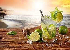 Pictures Drinks Mixed drink Lime Coast Mojito Ice Food