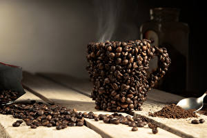Bilder Getränke Kaffee Kreativ Bretter Tasse Getreide Dampf Design Lebensmittel