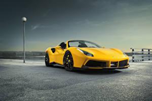 Hintergrundbilder Ferrari Gelb Roadster Spider Rosso Novitec 488 Autos